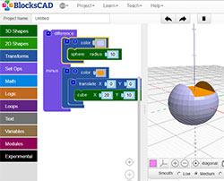 BlocksCAD - 3d конструктор